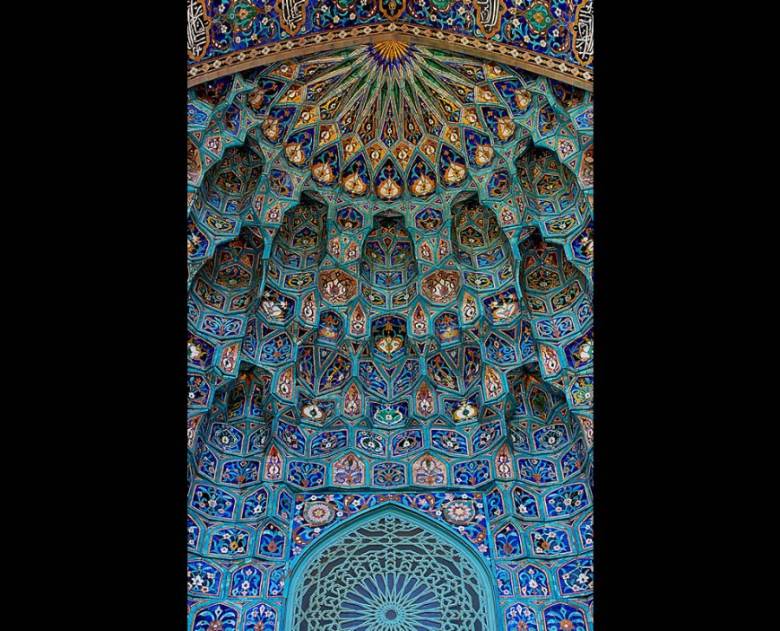 #11 – 31 votes in Final; Saint Petersburg Mosque. Maiolica of portal, in the form of Muqarnas -- Wikimedia Commons Picture of the Year to celebrate World Photography Day --  Thank you to photographers with creative commons license