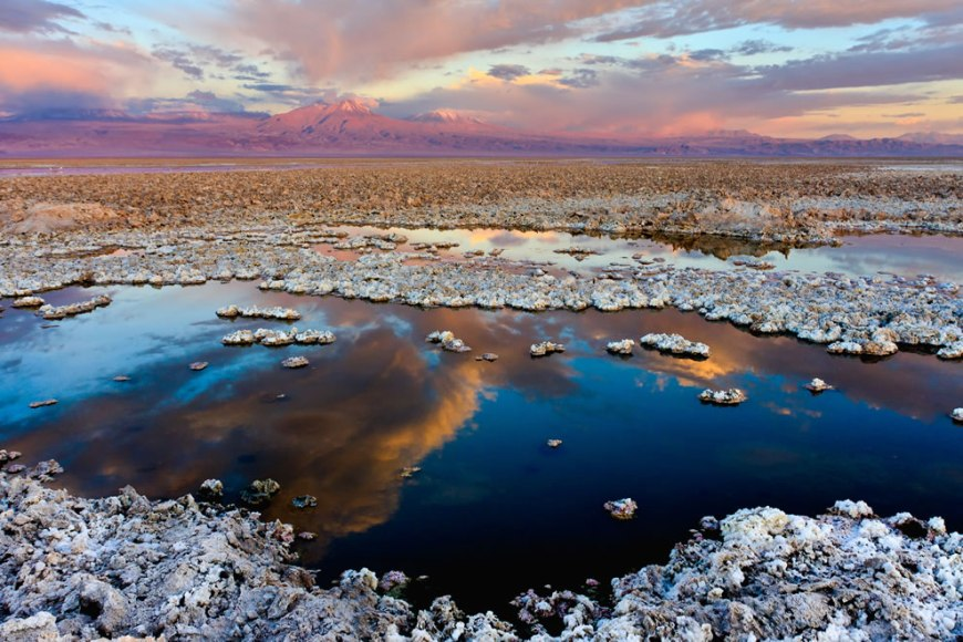 #14 – 26 votes in Final Wikimedia Commons Picture of the Year; The Atacama Dry lake, in Chile. At the horizon, the Licancabur volcano
