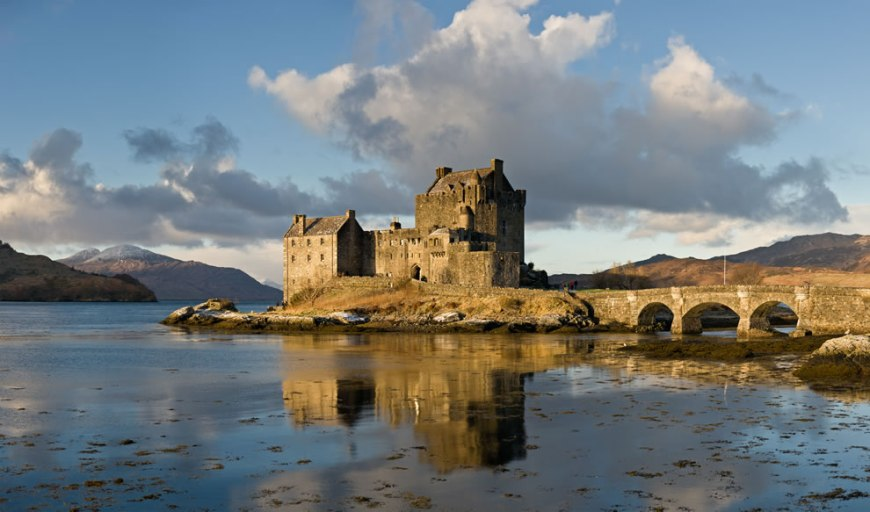 #15 – 25 votes in Final; Eilean Donan Castle, as viewed from the south-east at sunrise