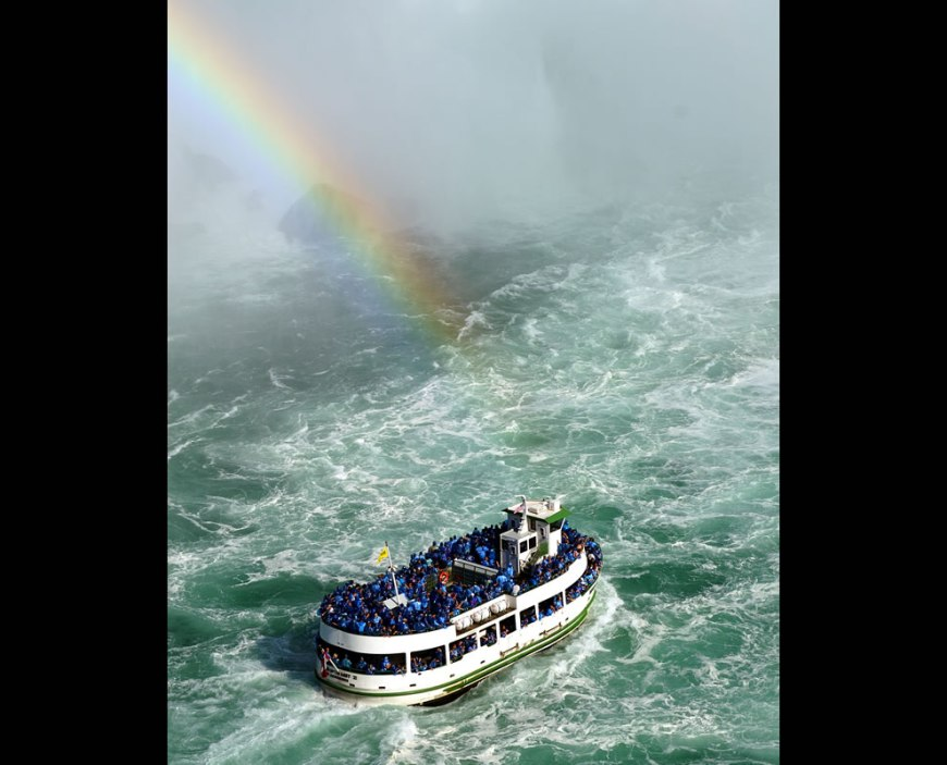 #19 – 18 votes in Final; One of the Maid of the Mist tour boats approaching the Horseshoe Falls on the Canadian side of Niagara Falls