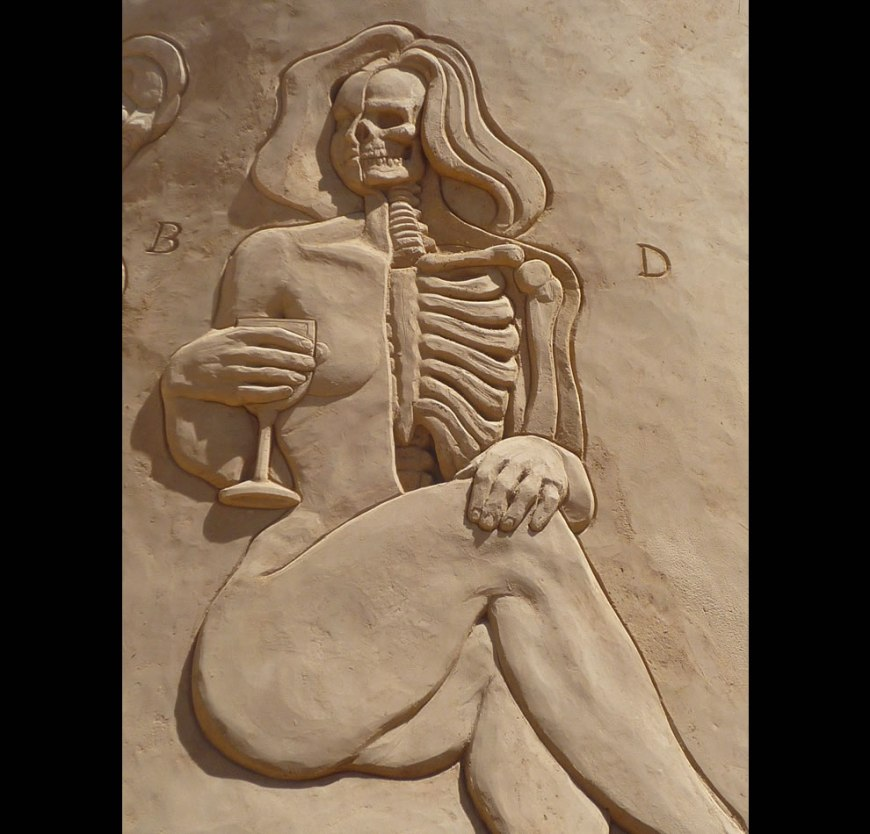 Anatomy in sand a sand sculpture