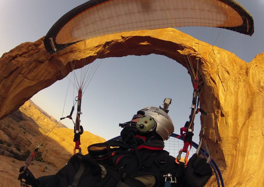 Flying Through the Arch extreme outdoor scene Moab