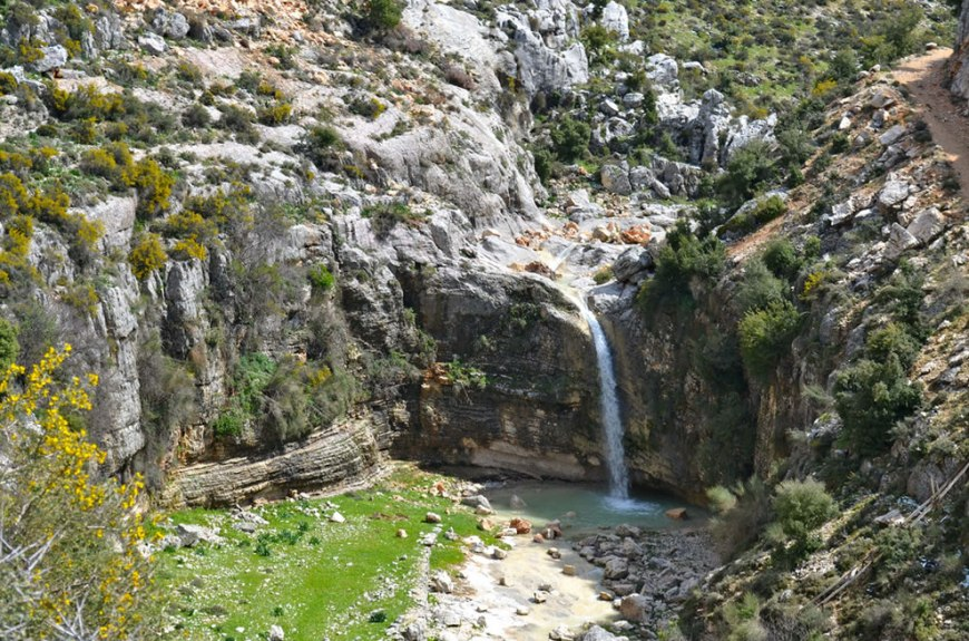 Hiking in Lebanon, another waterfall along the trail outside of Assia