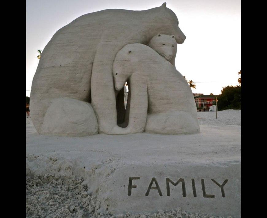 Karl Herpel's Family of Sand Polar Bears