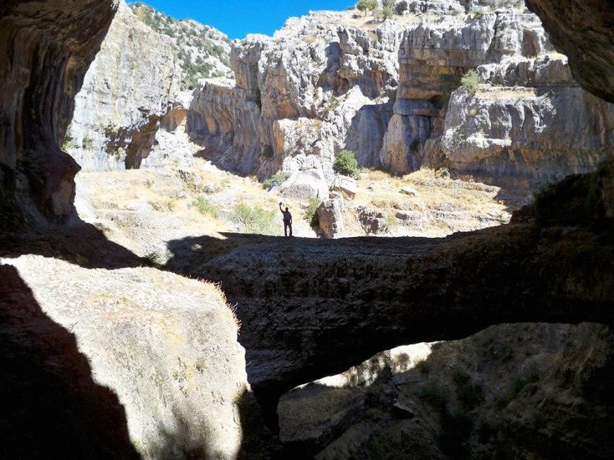 Looking across the Baatara abyss gap