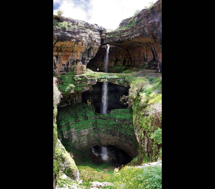 Nature is gloriously gorgeous at Baatara gorge waterfall, Lebanon