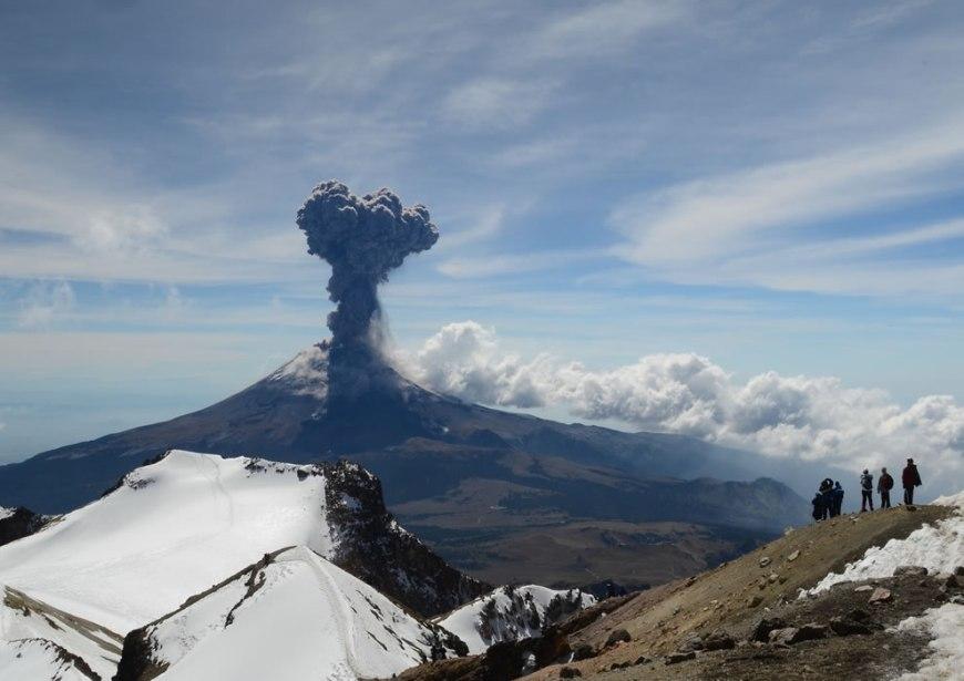 Popocatepetl Volcano Explosion Spontaneous Moment