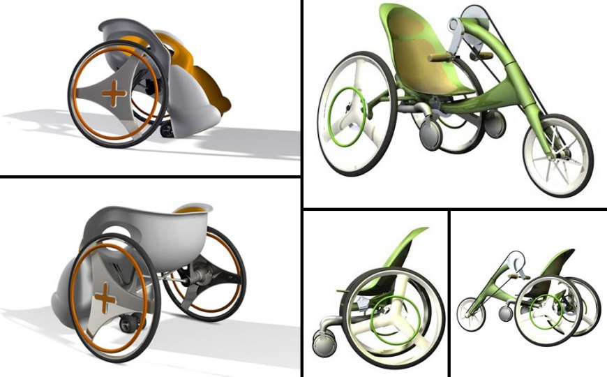 Big Foot Wheelchair and the LIME Cycle wheelchair design concepts