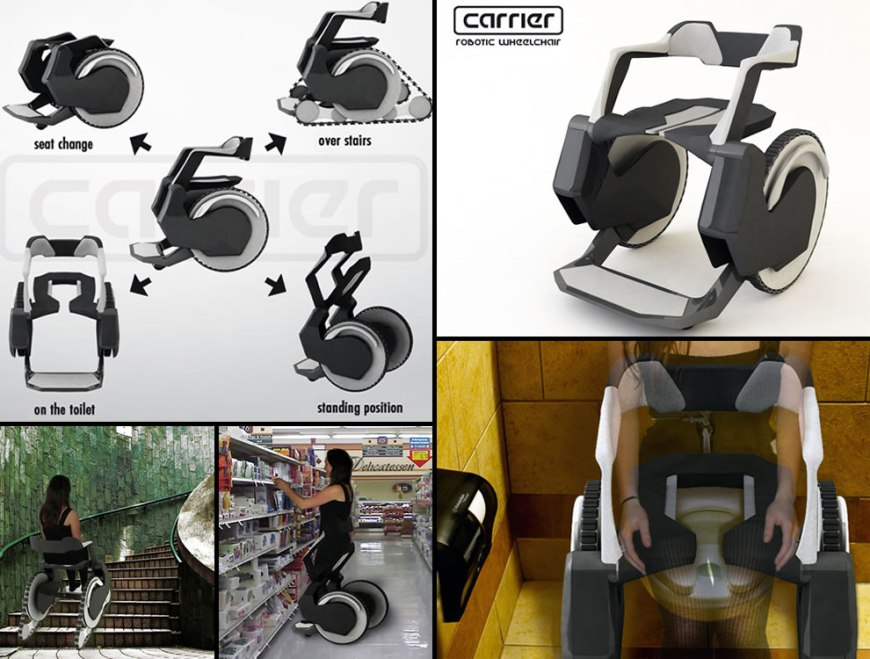 Carrier Robotic Wheelchair - wheelchair design concepts