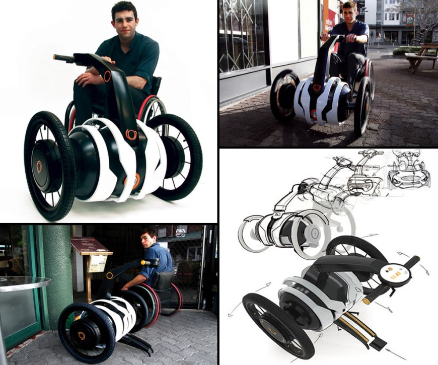 Electric Independent Wheelchair Assistant by designer Oscar Fernandez wheelchair design concepts