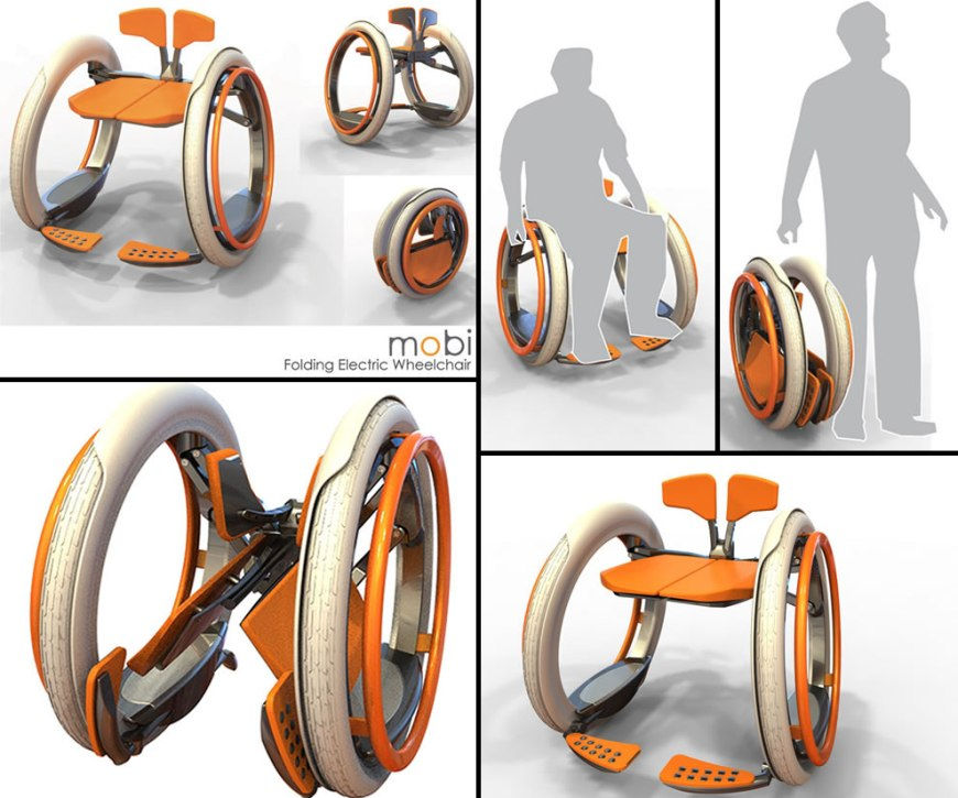 Mobi electric folding wheelchair concept by designer Jack Martinich