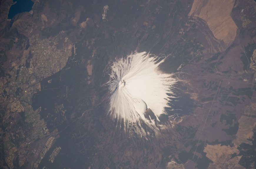 MT Fuji as seen from ISS