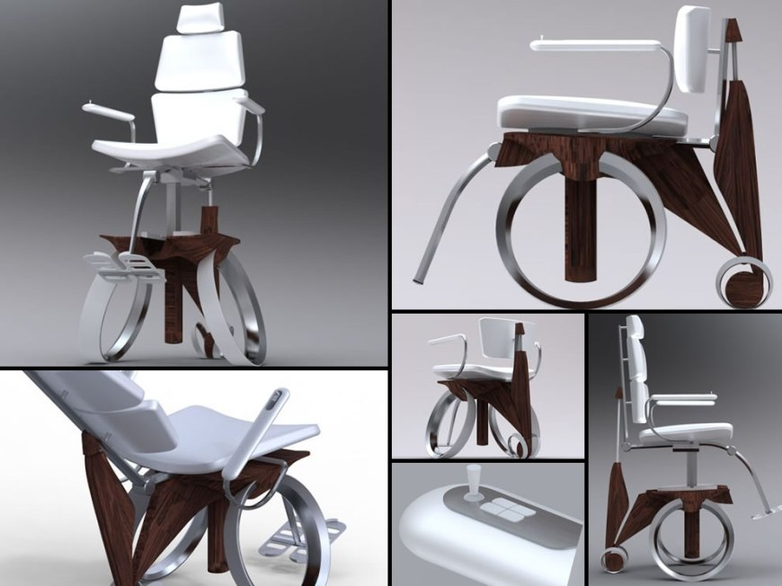 Nimbl concept wheelchair by designer Lawrence Kwok