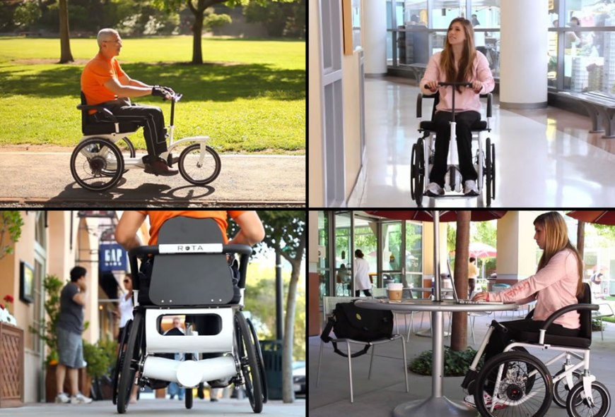 RoTrike and RoChair by ROTA Mobility wheelchair design concepts