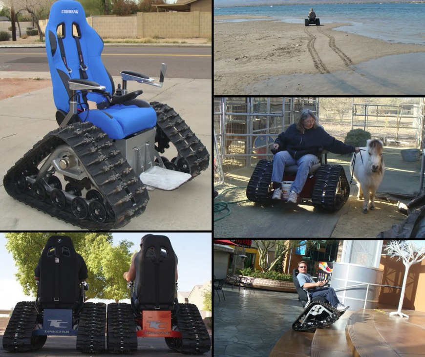 The Tank Chair by T C Mobility wheelchair designs