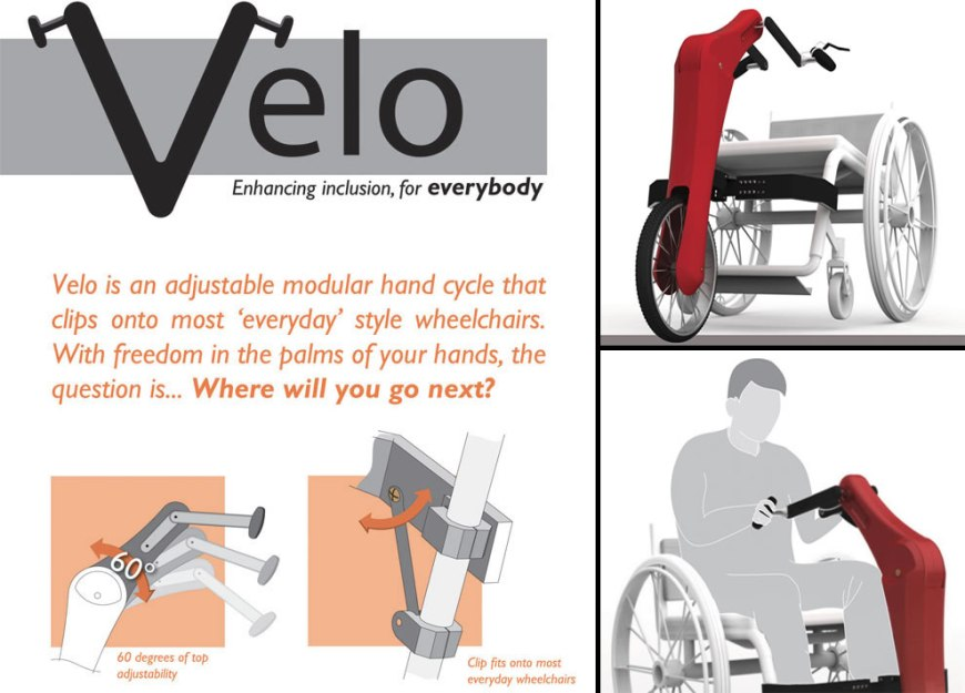 Velo Modular Handcycle by designer Mark Wafforne wheelchair design concepts