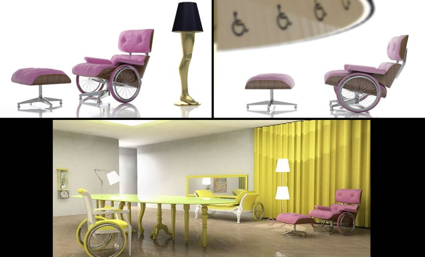 Wheelchair concepts and Inclusive objects by designer David Pompa